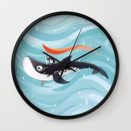 Grandpa Orca Wall Clock