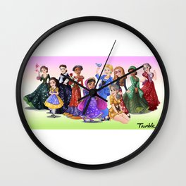 """Ten Real-World Princesses Who Don't Need Disney Glitter"" Trumble Cartoon Wall Clock"