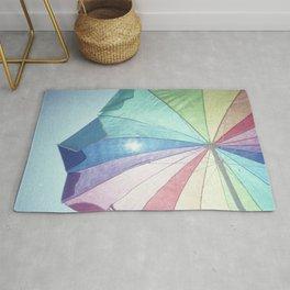 Colorful Beach Umbrella Rug