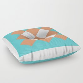 """Geometic Print """"Quilted"""" Floor Pillow"""