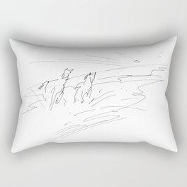 Horses (Summer Morning) Rectangular Pillow