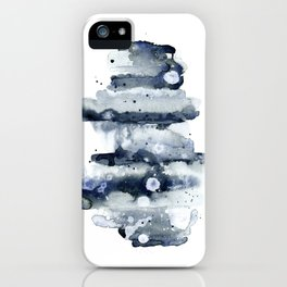 Indigo Abstract Watercolor No.1 iPhone Case