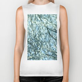 Blue winter garden Biker Tank