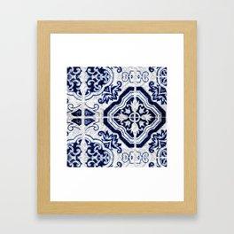 Azulejo VI - Portuguese hand painted tiles Framed Art Print