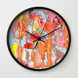The Lonely Koi Wall Clock