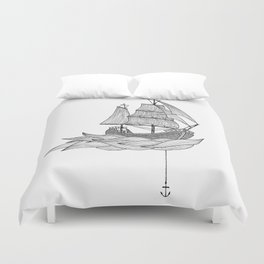 The ship Duvet Cover