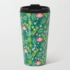 Fruity Flamingo - Green Travel Mug