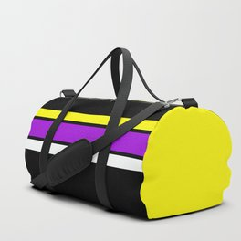 Team Colors 2 ...yellow , purple black background Duffle Bag