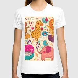 Animals in love T-shirt