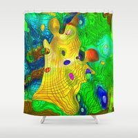 wizard Shower Curtains featuring The Wizard by Klara Acel