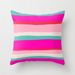 Candy Stripe Christmas Throw Pillow