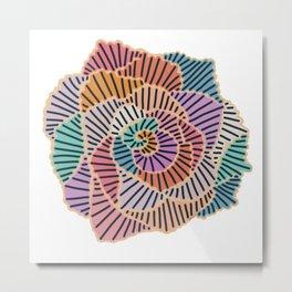 Curve Sticker Metal Print