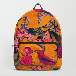 Vintage And Shabby Chic - Colorful Summer Botanical Jungle Garden Backpack