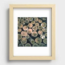 wood Recessed Framed Print