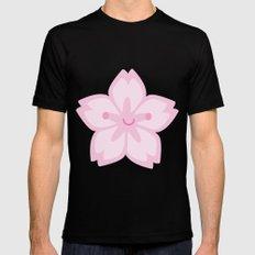 Kawaii Sakura Cherry Blossom Black MEDIUM Mens Fitted Tee