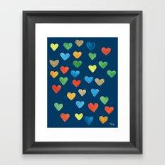 hearts hearts hearts Framed Art Print