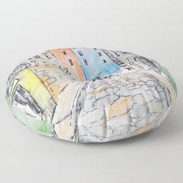 Italian street Floor Pillow
