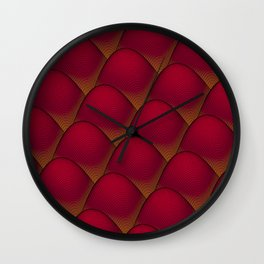 Wave Value in Red Wall Clock
