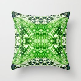 Green Splitting Spheres Throw Pillow