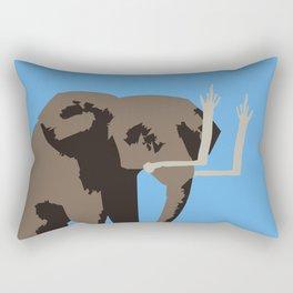Angry Elephant Rectangular Pillow