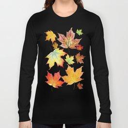Autumn Maple Leaves Long Sleeve T-shirt