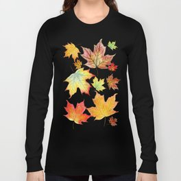 Autumn Maple Leaves Long Sleeve T-shirt