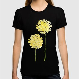 two abstract dandelions watercolor T-shirt