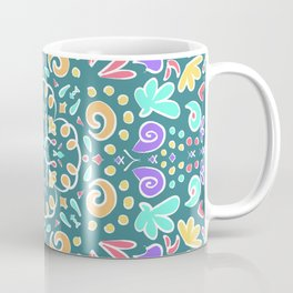 Teal Tile Design Coffee Mug