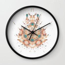 Rorschach inkblot XVII Wall Clock