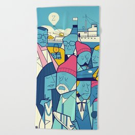 Acquatic Life Beach Towel