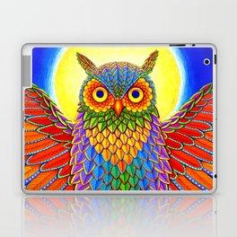 Colorful Rainbow Owl Laptop & iPad Skin