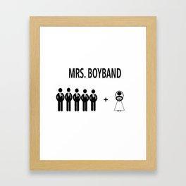 Mr. and Mrs. Boyband Framed Art Print