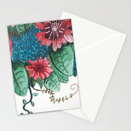 Ruby Botanical 3 Floral Watercolor Stationery Cards