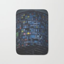 Stained glass water tower Bath Mat