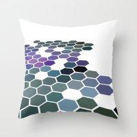 arizona Throw Pillows featuring Arizona by Bakmann Art