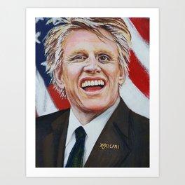 Gary Busey For President Art Print
