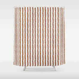 Country Orange Arrows Shower Curtain