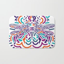 Colorful Fly Bath Mat