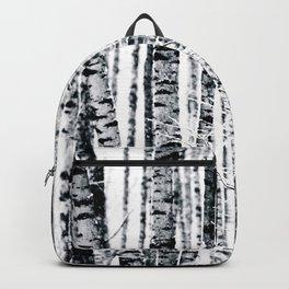 Birch Trees In Winter Backpack