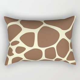 Animal Print (Giraffe Pattern) - Brown Yellow Rectangular Pillow