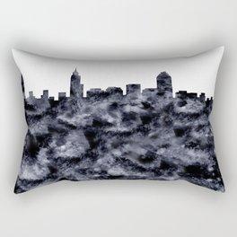 Raleigh Skyline North Carolina Rectangular Pillow