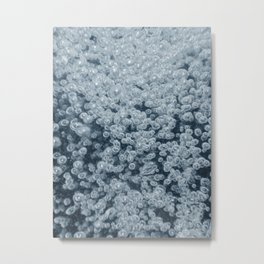Underwater bubbles. Air bubbles in water. Metal Print