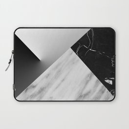 Monochromatic Marble Collage  Laptop Sleeve
