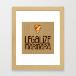 Legalize Marinara Framed Art Print