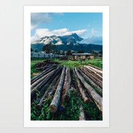Outside Ibarra (Ecuador) Art Print