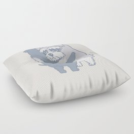 Schnauzer  Hugs Floor Pillow