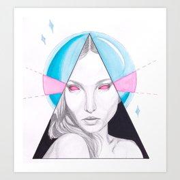 Crystal Gazer Art Print