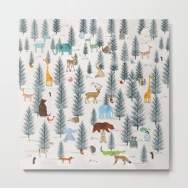 little nature woodland Metal Print
