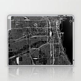 Chicago Black Map Laptop & iPad Skin