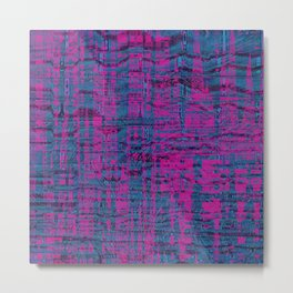 Pink and blue cool shapes create interesting art Metal Print